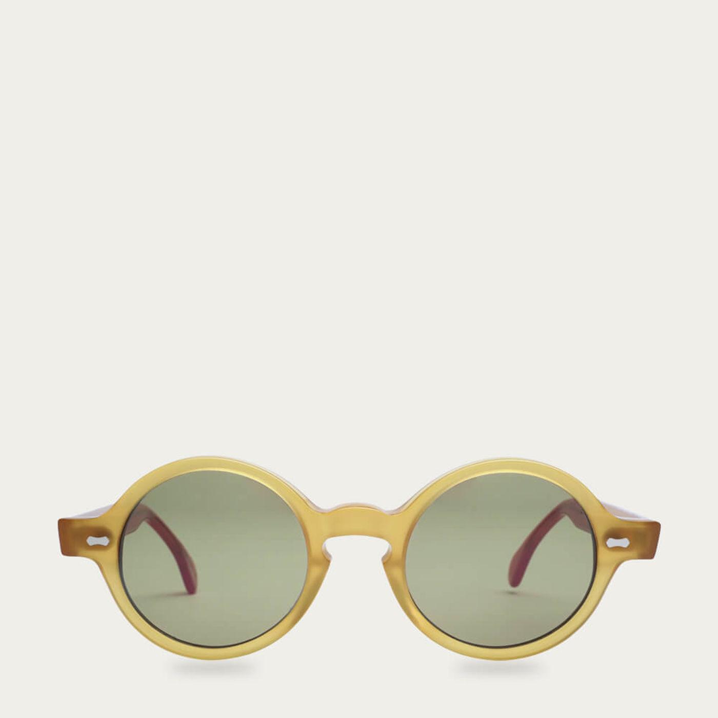 Honey /Bottle Green Oxford Sunglasses   Bombinate