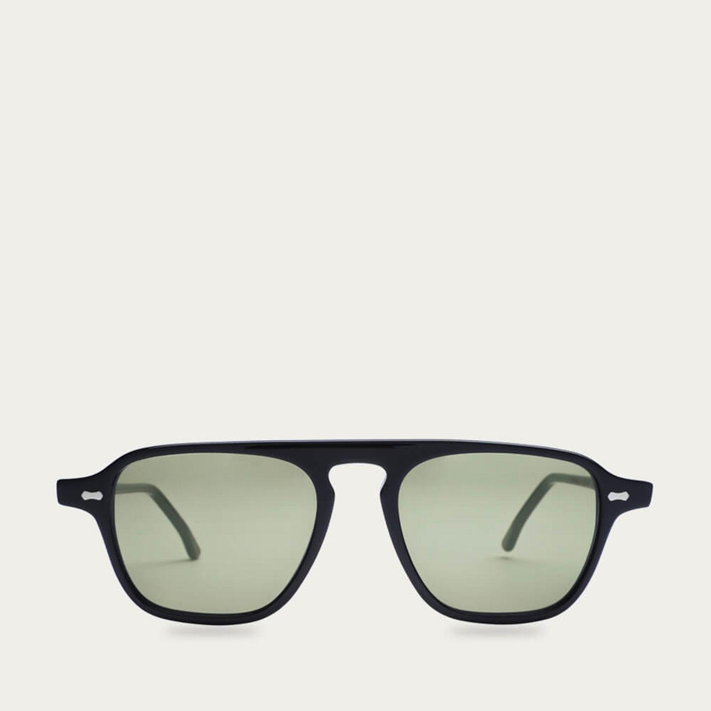 Black /Bottle Green Panama Sunglasses | Bombinate