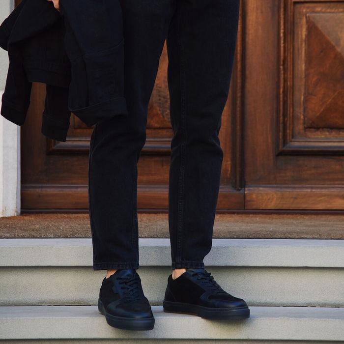 Black Suede Series 6 Sneakers | Bombinate