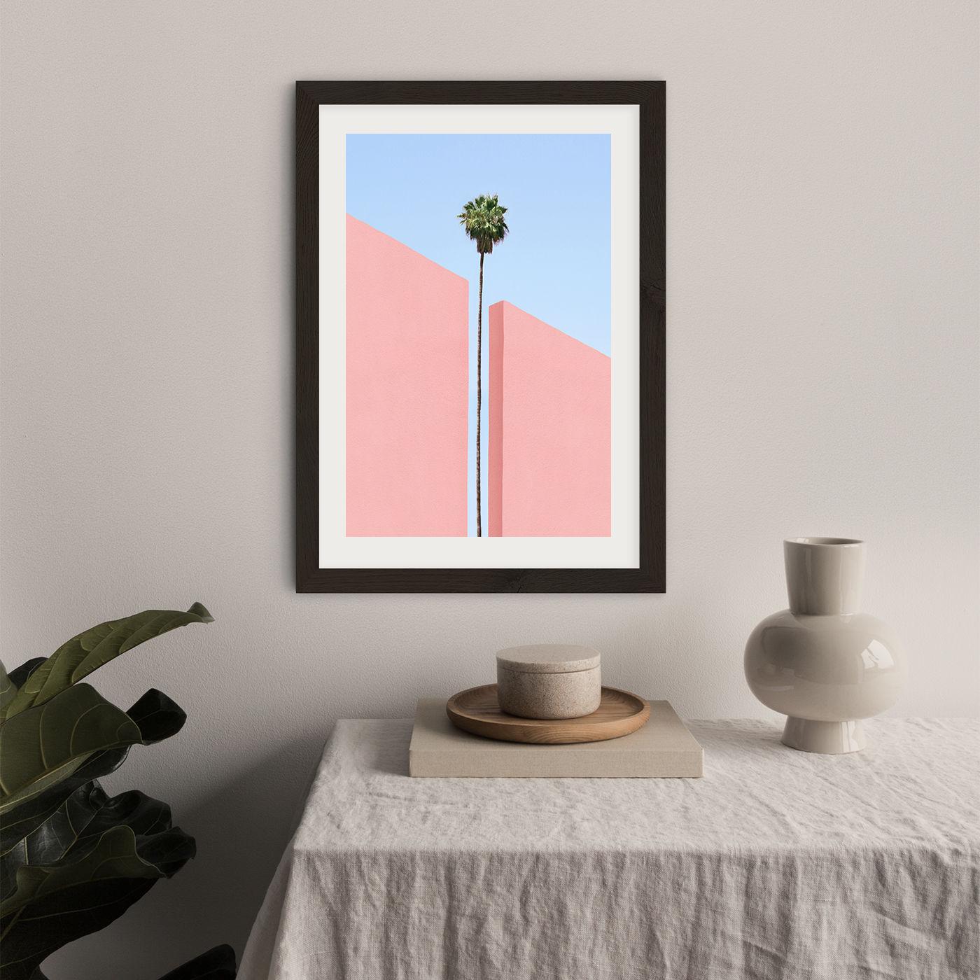 The Gap Art Print Black Frame   Bombinate