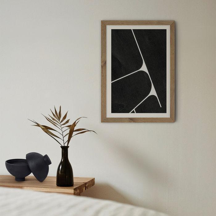 Research N°001 Art Print Oak Frame   Bombinate