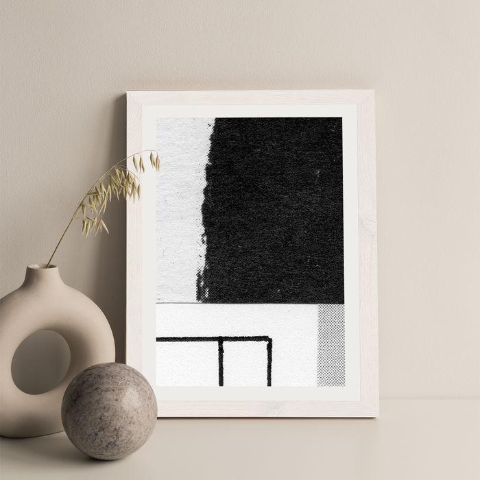 Research N°006 Art Print White Frame   Bombinate