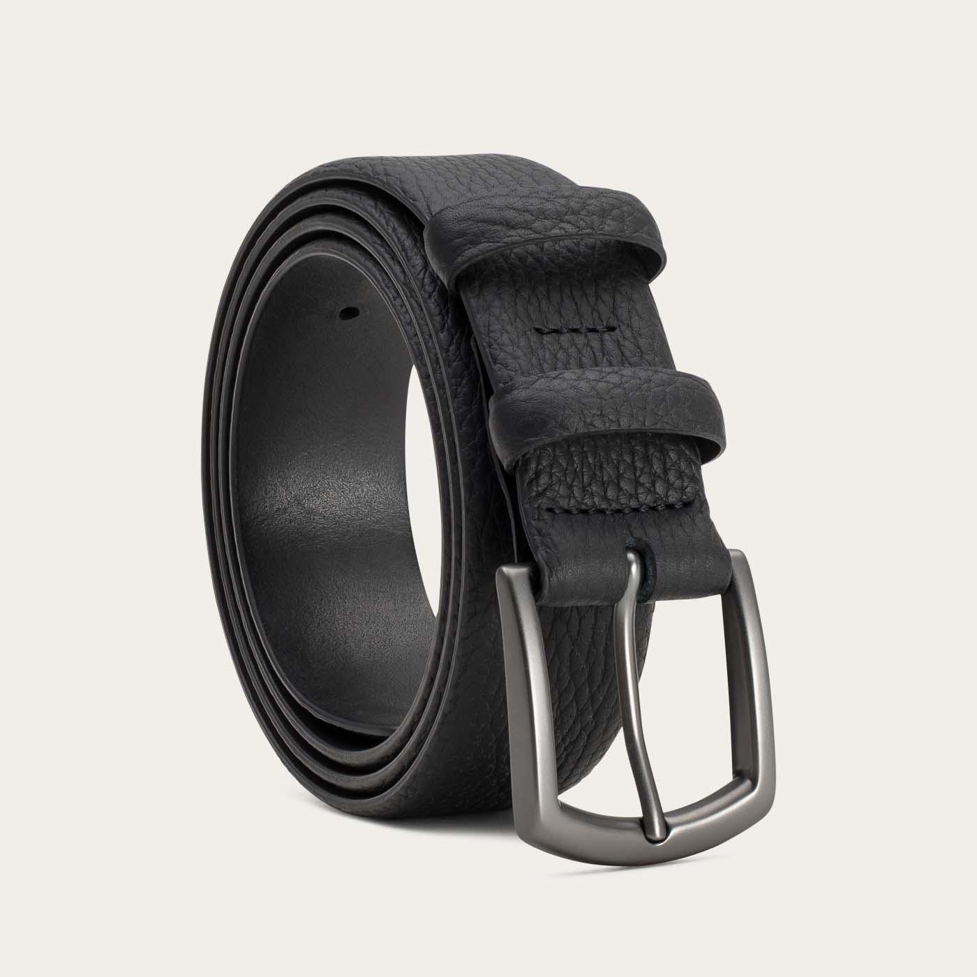 Black Bernard Handmade Leather Belt  | Bombinate