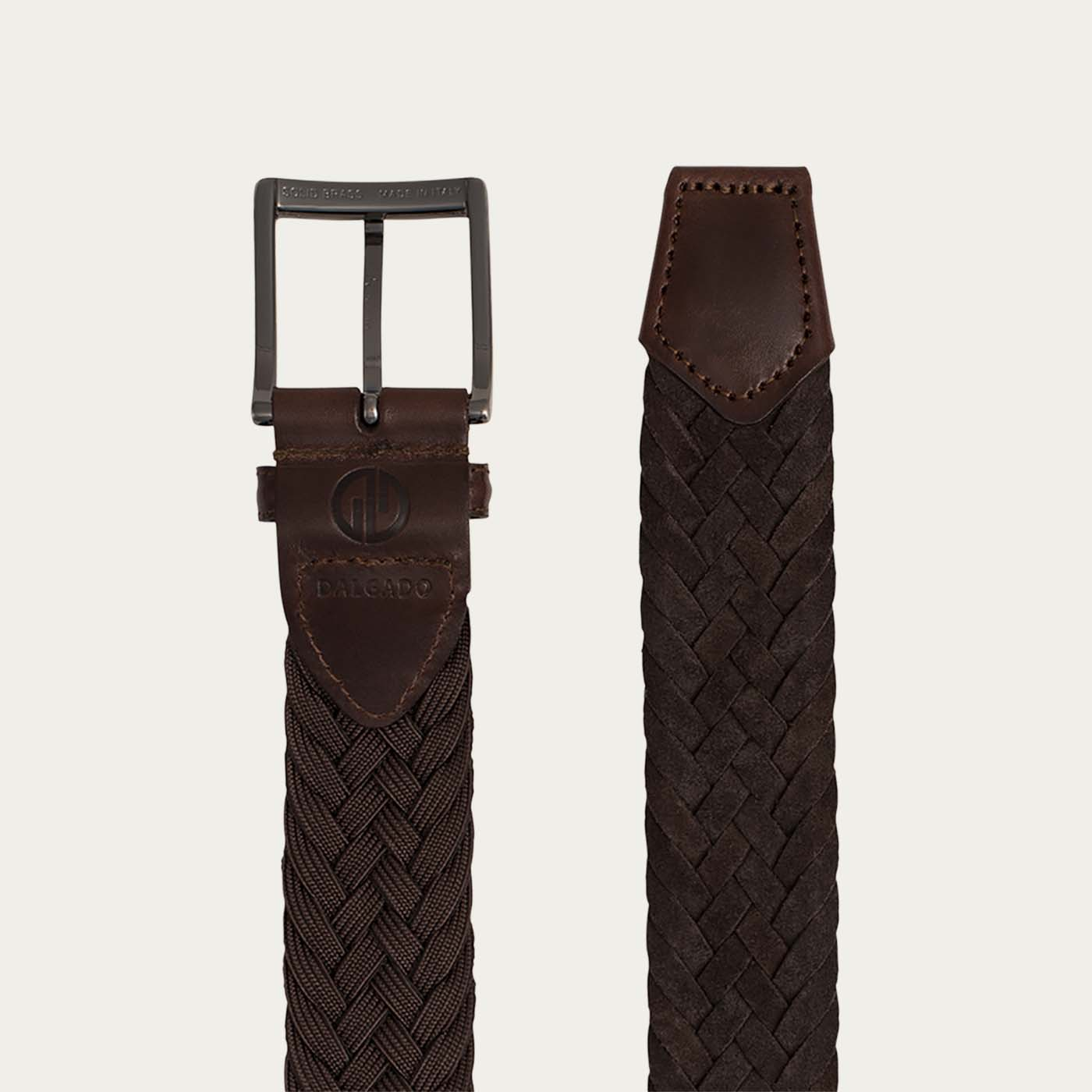Brown Edoardo Braided Suede Belt  | Bombinate