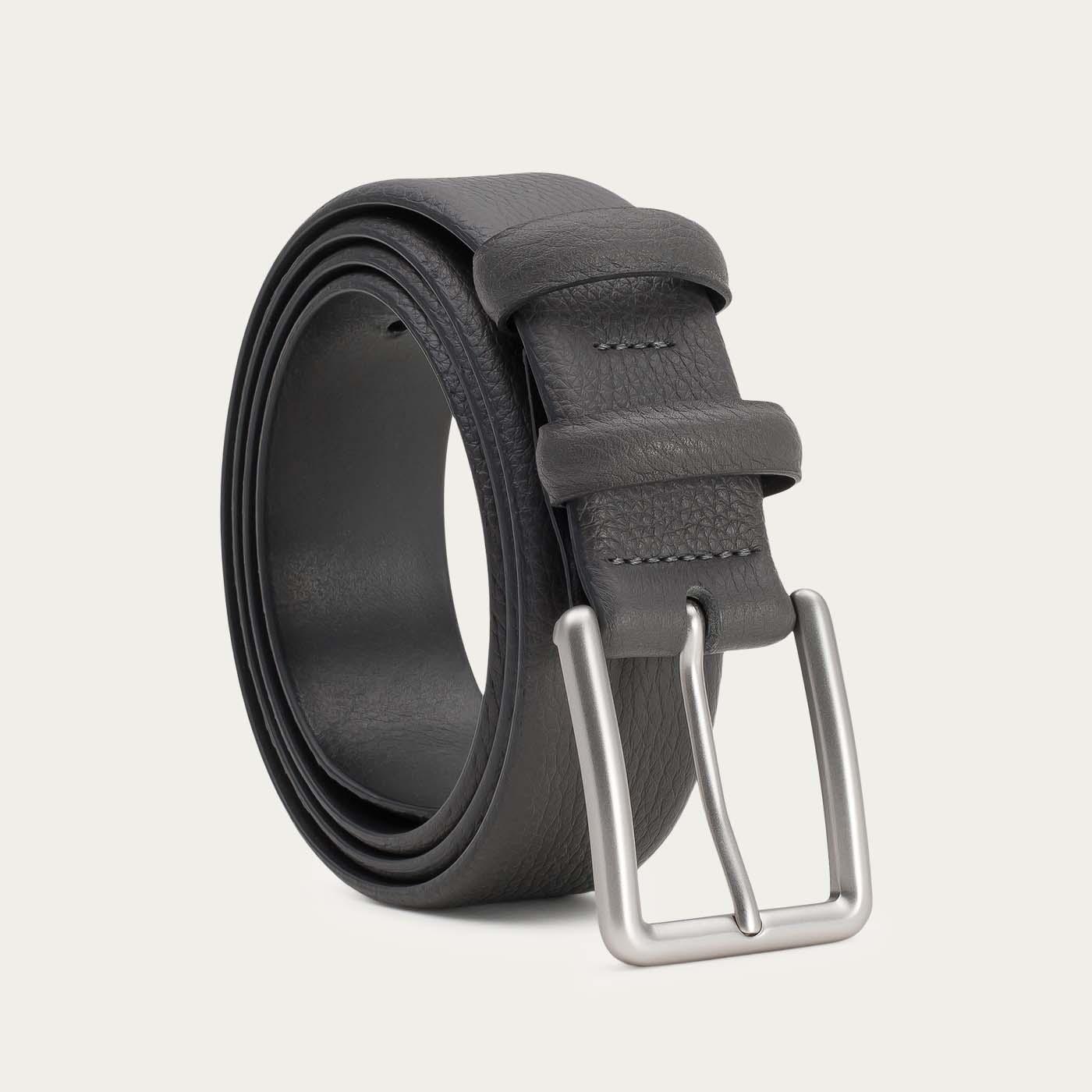 Grey Javier Handmade Leather Belt   0