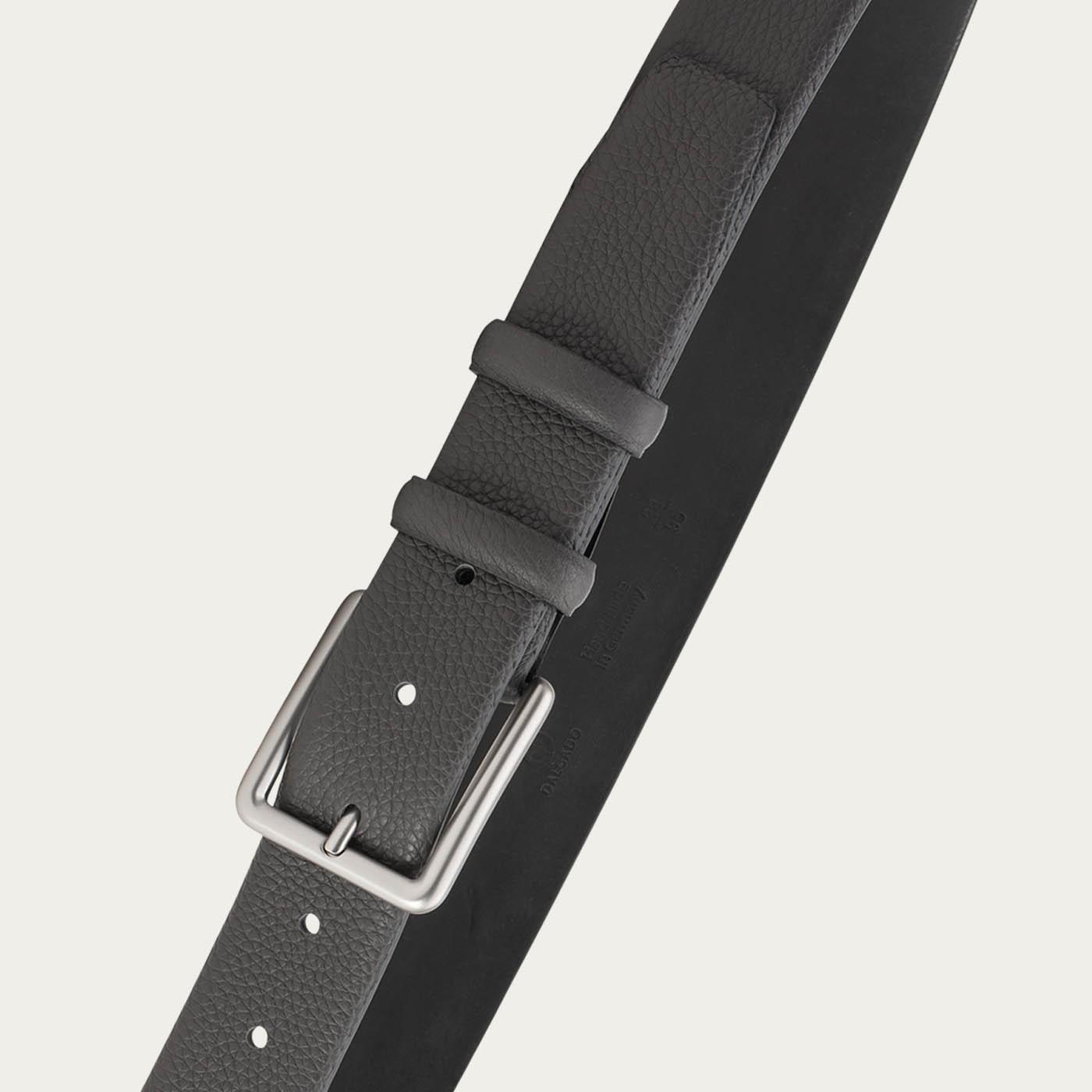 Grey Javier Handmade Leather Belt   2