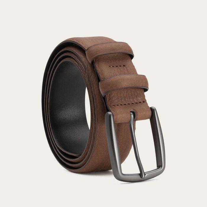Brown Matthieu Handmade Leather Belt  | Bombinate