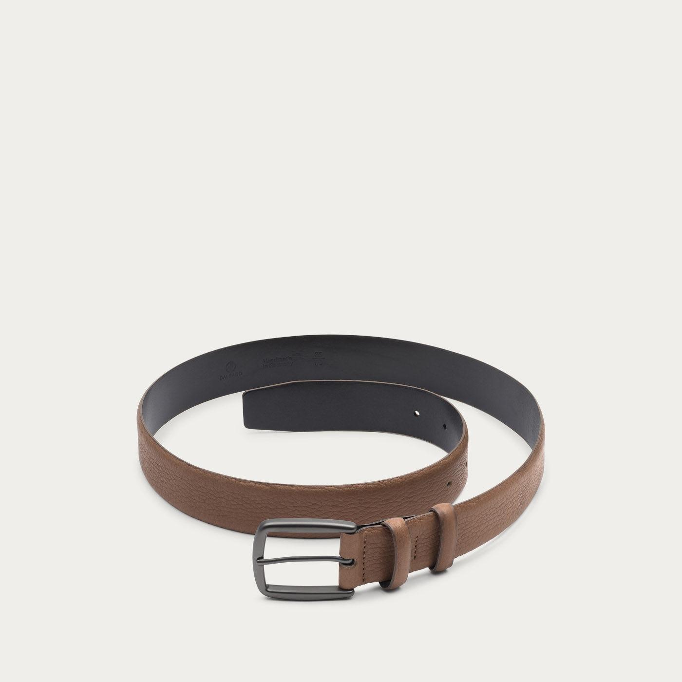 Brown Matthieu Handmade Leather Belt  1