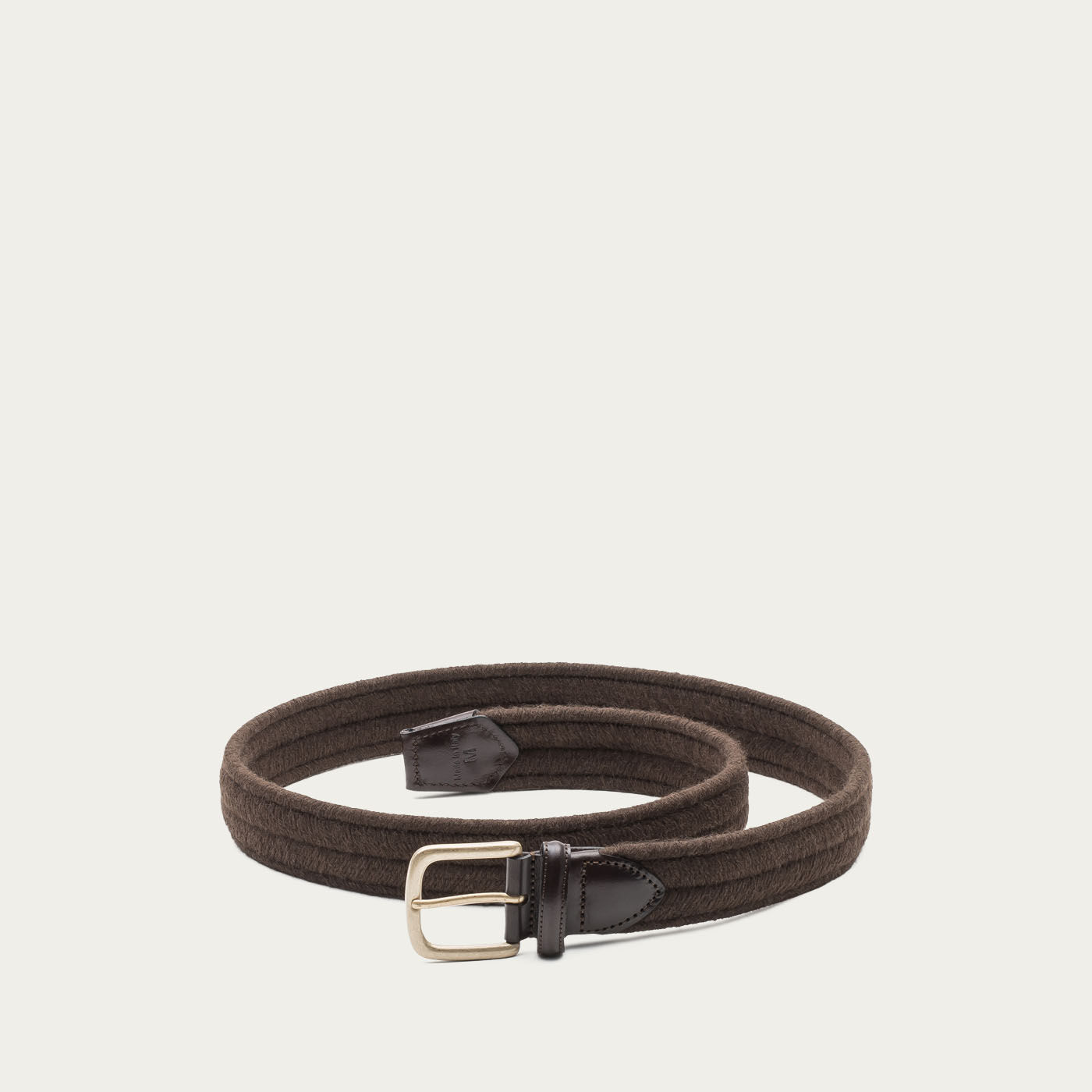 Brown Rodolfo Elastic Braided Wool Belt  | Bombinate