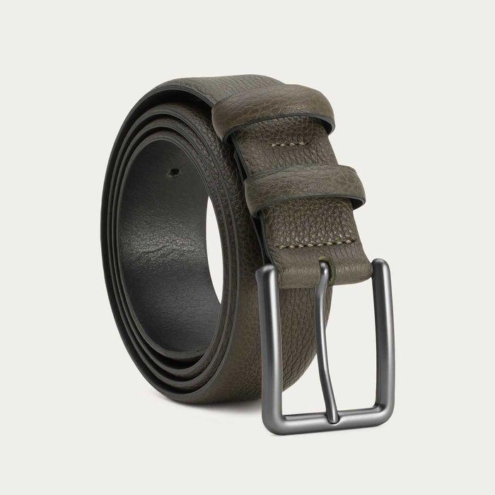 Green Santiago Handmade Leather Belt    Bombinate