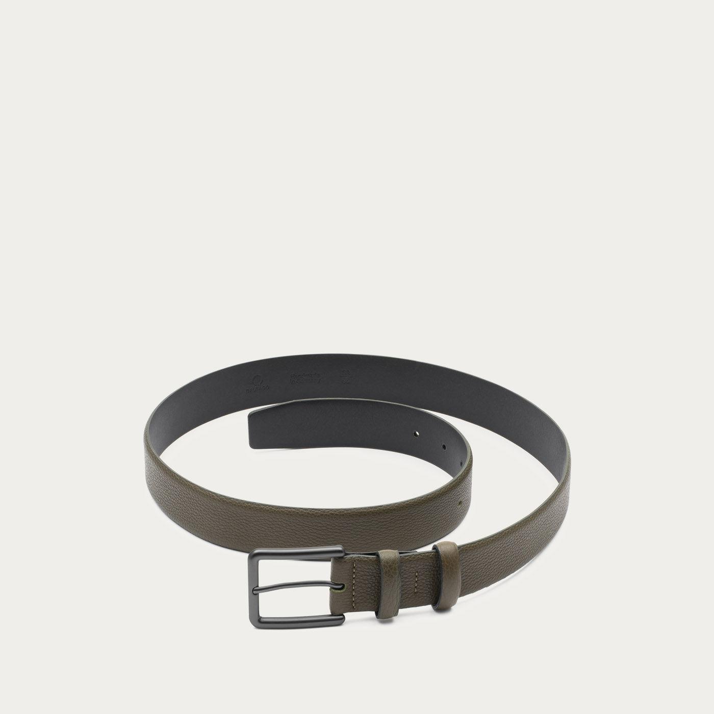 Green Santiago Handmade Leather Belt  | Bombinate