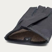 Blue Emanuele Handmade Deer Leather Gloves  2