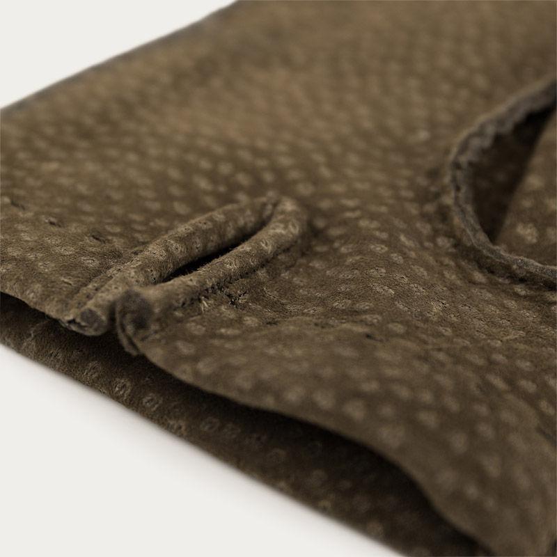 Green Ettore Handmade Carpincho Leather Gloves  | Bombinate