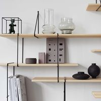 Ash / Black LINK Set 2 Shelf  | Bombinate