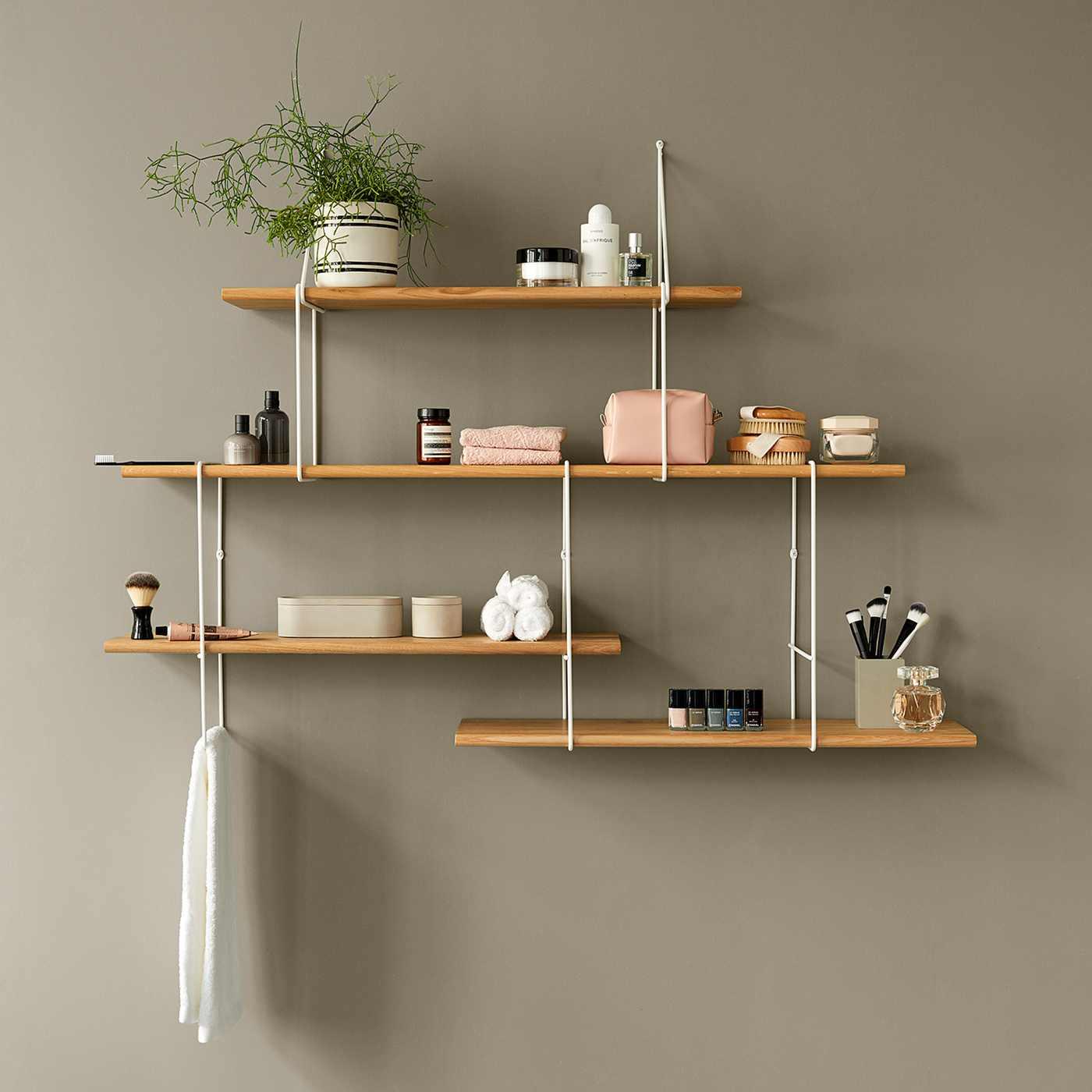 Oak / White LINK Set TRIO Shelf  | Bombinate
