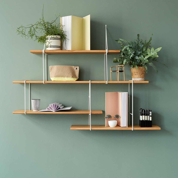 Oak / White LINK Set TRIO Shelf  | Bombinate