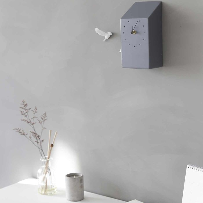 Dark Grey Cuckoo Home Clock | Bombinate