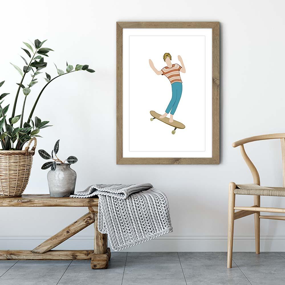 Brah Art Print Oak Frame | Bombinate