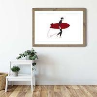 Hero Art Print Oak Frame | Bombinate