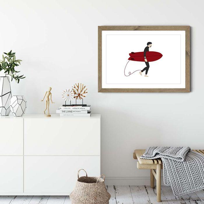 Hero Art Print Oak Frame   Bombinate