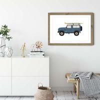 Landy Art Print Oak Frame | Bombinate