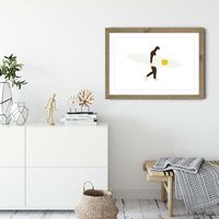 Salty Art Print Oak Frame | Bombinate