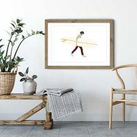 Sebastian Art Print Oak Frame | Bombinate