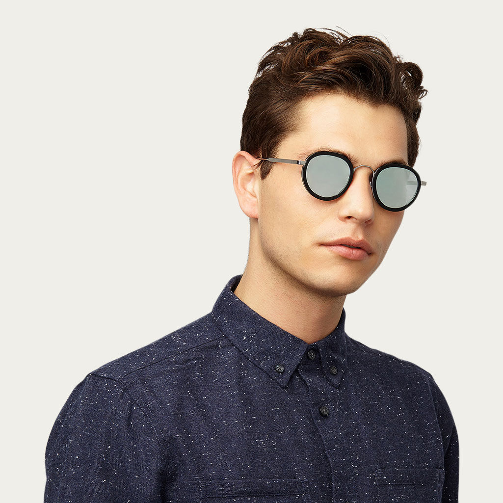 Black London Fields with Mirror Lenses Sunglasses | Bombinate