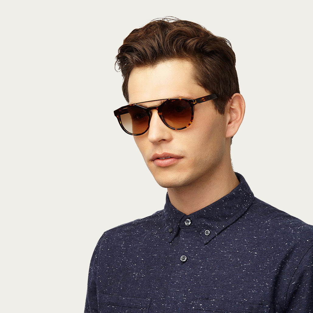 Tortoise Kreuzberg with Gradient Lenses Sunglasses | Bombinate