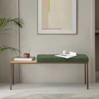 Spring Green Cube Bench Wool Line | Bombinate