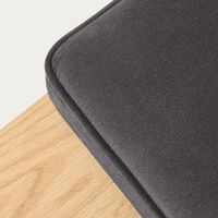Grey Cube Bench Velvet Line | Bombinate