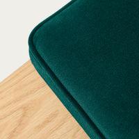 Hunter Green Cube Bench Velvet Line | Bombinate