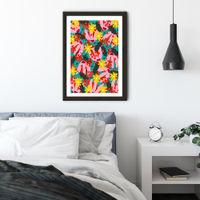 Windy Day Art Print Black Frame   Bombinate