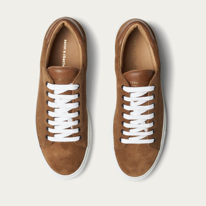 Tan Suede Lione Sneakers | Bombinate
