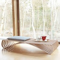 Grey Textile Beech Jundo Daybed with 1 Cushion   Bombinate