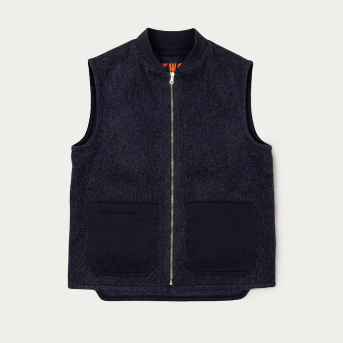 Navy Men's English Wool Gilet | Bombinate