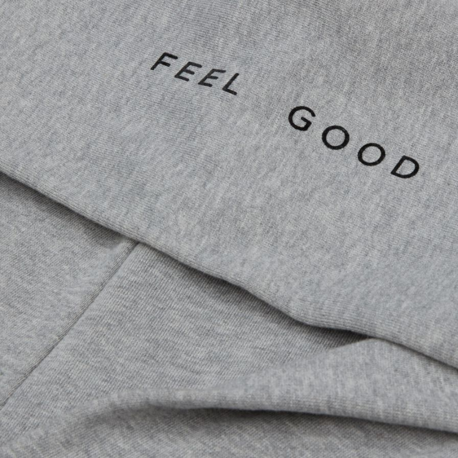 Grey Feel Good  Classic Hoodie  | Bombinate