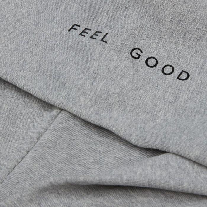 Grey Feel Good  Classic Hoodie  | Bombinate