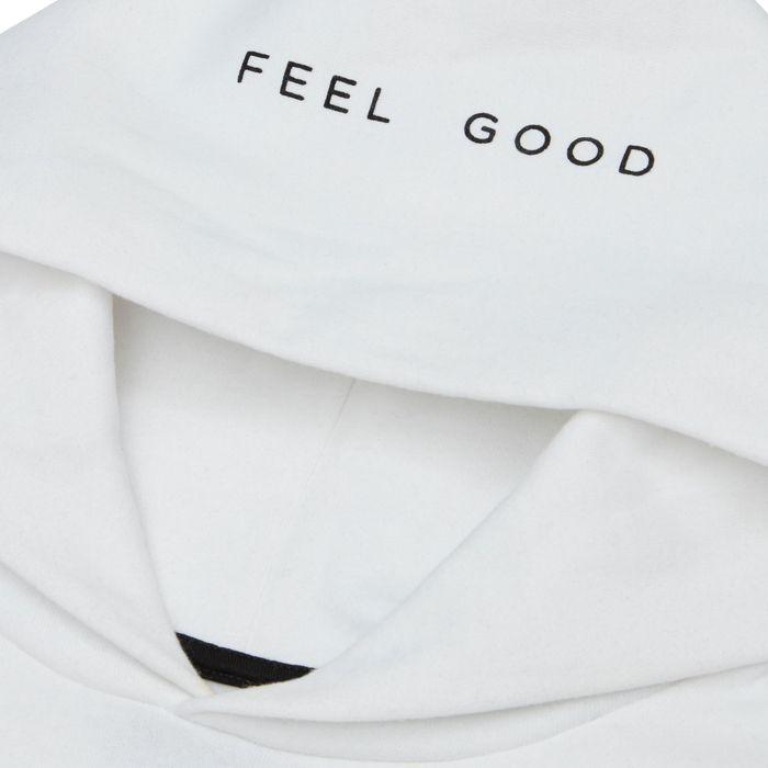 White Feel Good  Classic Hoodie  | Bombinate