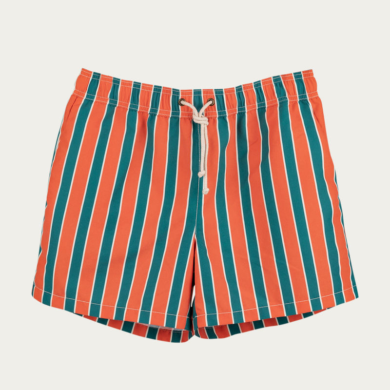 Monterosso Arancione/Verde Swim Short  | Bombinate