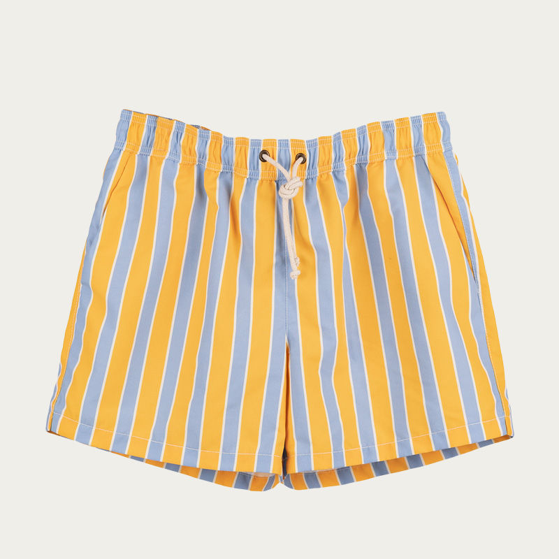 Monterosso Giallo/Celeste Swim Short  | Bombinate