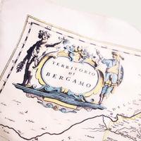 White Bergamo Silk Foulard   Bombinate