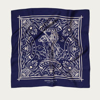 "Deep Blue ""Looking for the Shangri-La"" Silk Foulard | Bombinate"