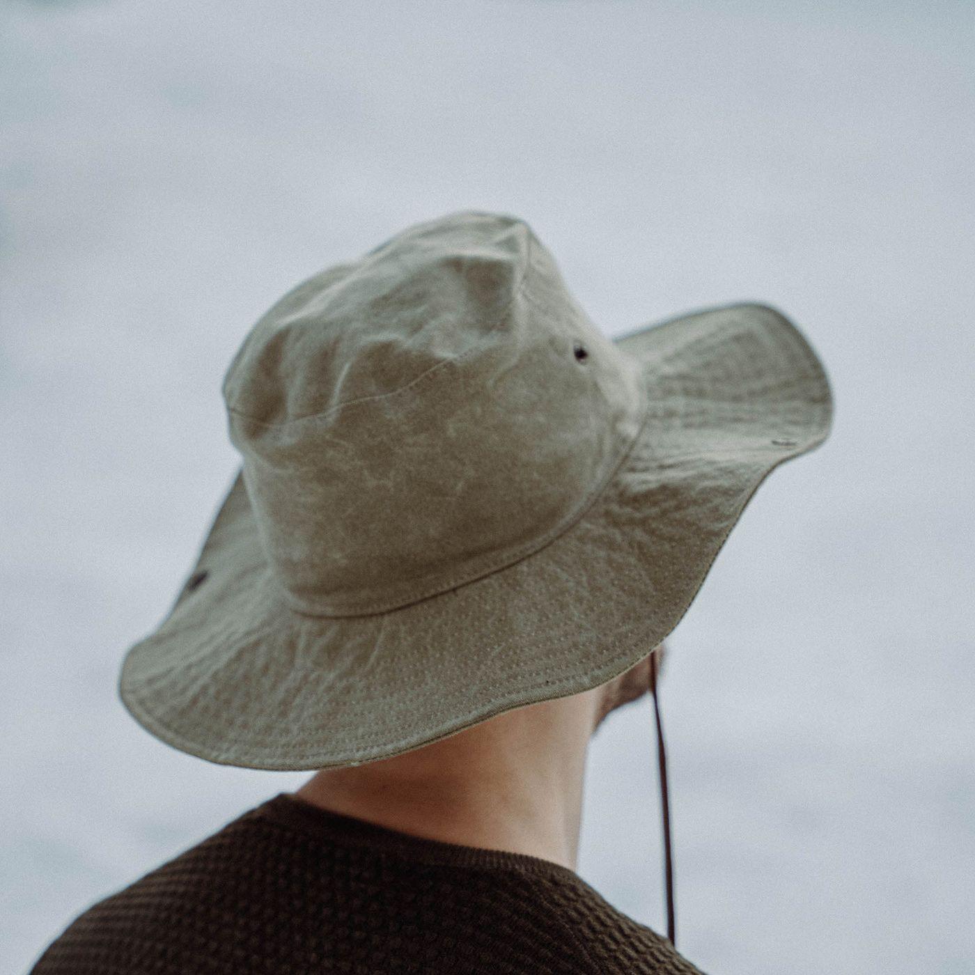 Army Safari Waxed Canvas Hat | Bombinate