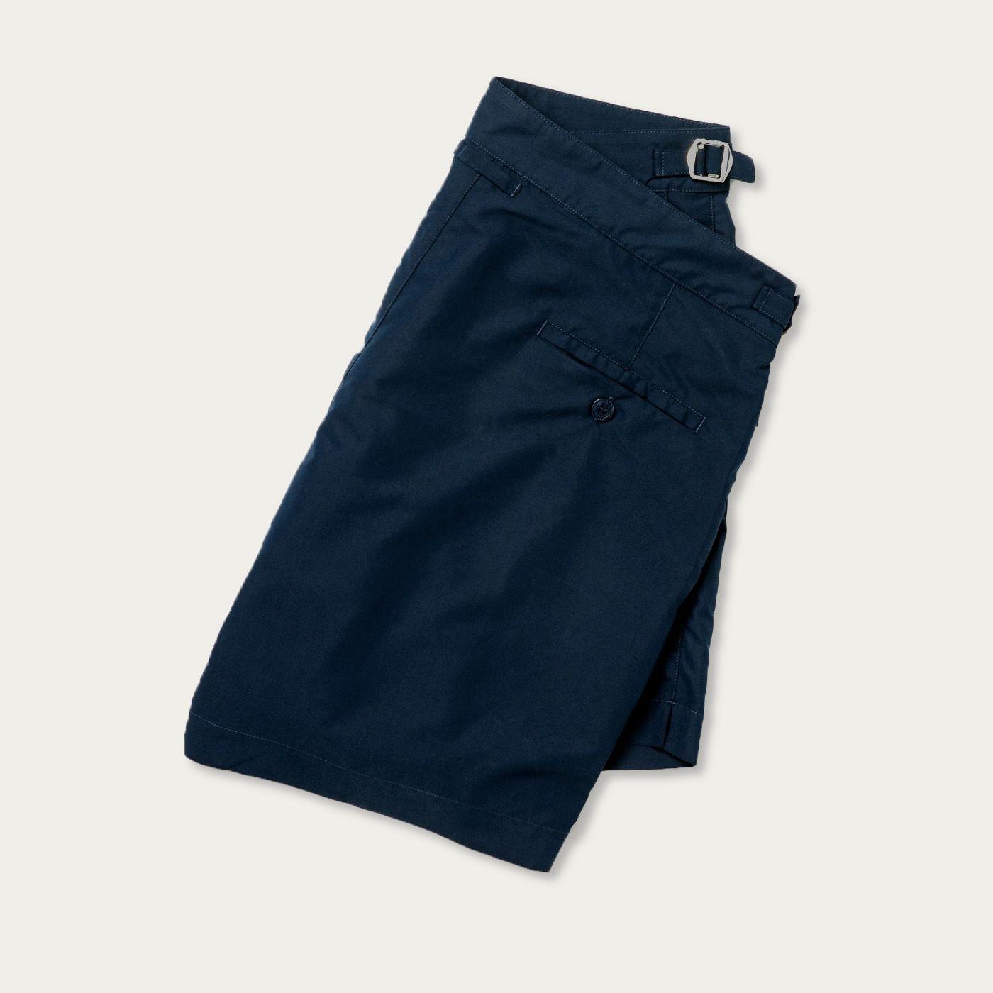 Navy Blue Tailored Swim Shorts   Bombinate