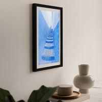 Stairway Art Print Black Frame   Bombinate
