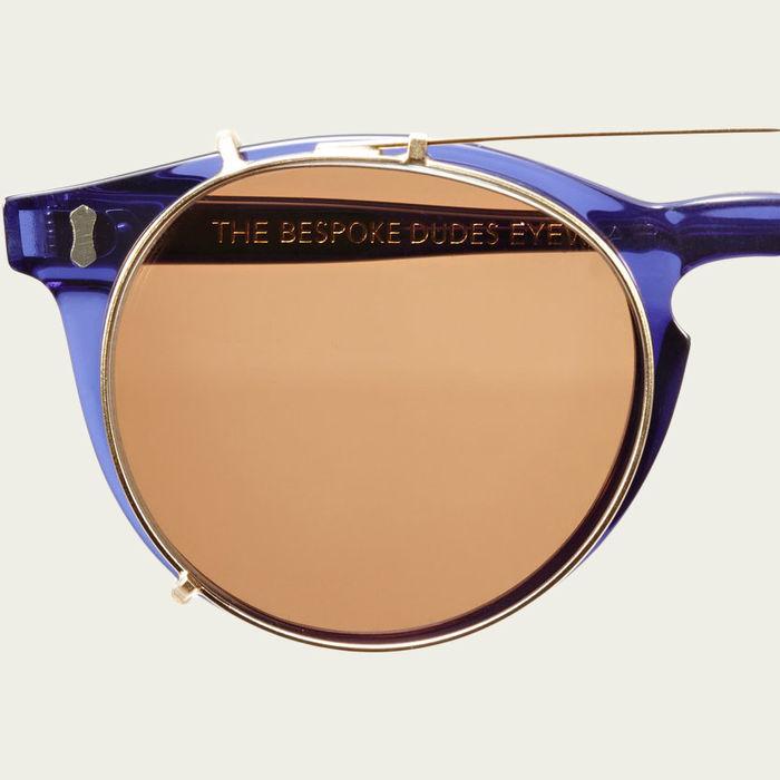 Dark Blue / Tobacco Pleat Sunglasses    Bombinate