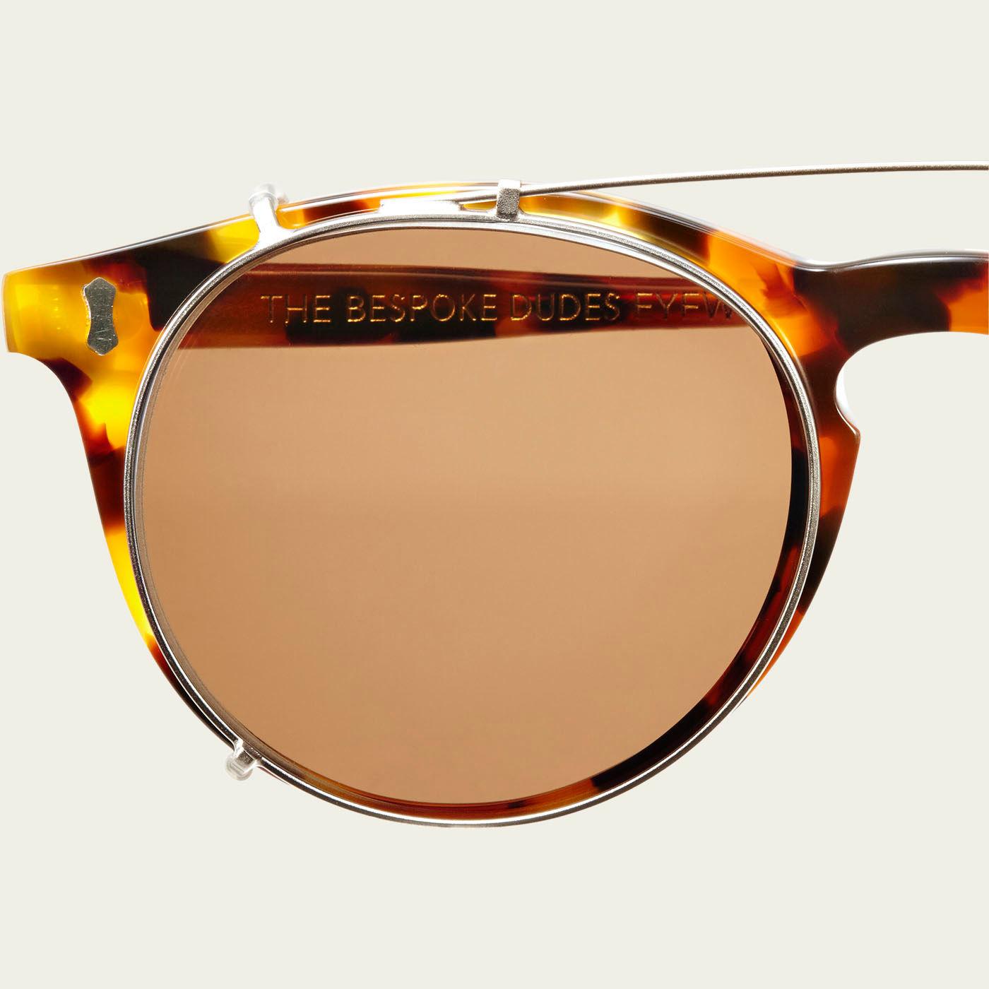 Amber Tortoise / Tobacco Pleat Sunglasses | Bombinate