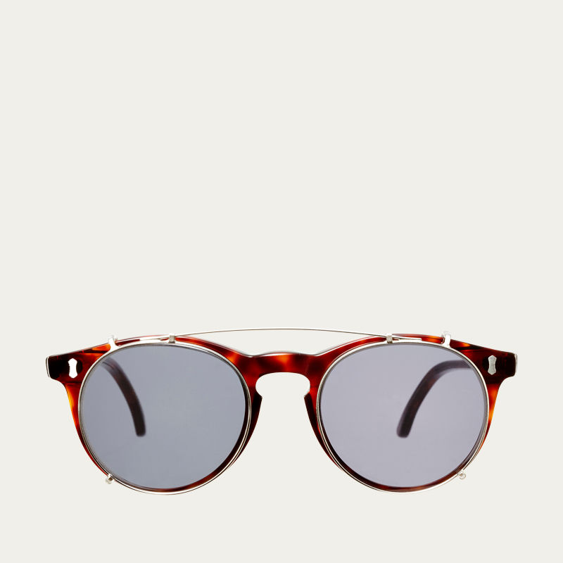 Classic Tortoise / Gradient Grey Pleat Sunglasses | Bombinate
