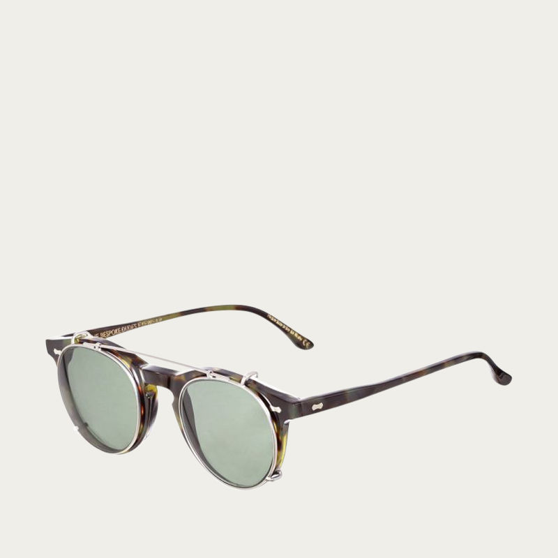 Green Tortoise / Bottle Green Pleat Sunglasses | Bombinate